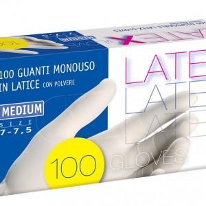 guanti lattice con polvere